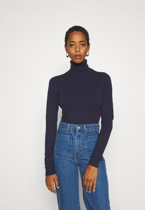 VMHAPPY BASIC ROLLNECK - Strickpullover - navy blazer
