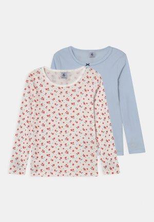 2 PACK - Long sleeved top - light blue