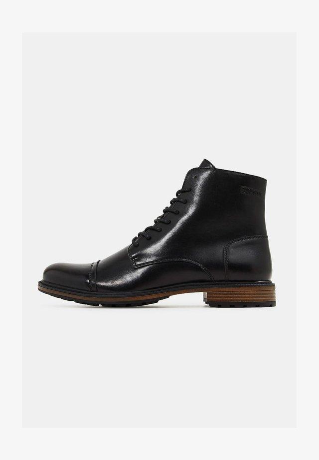 N LEDER-OPTIK - Lace-up ankle boots - black