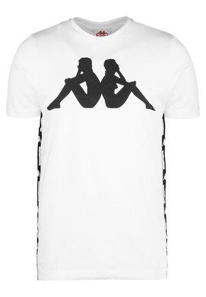 BARWA - T-shirt con stampa - white / black