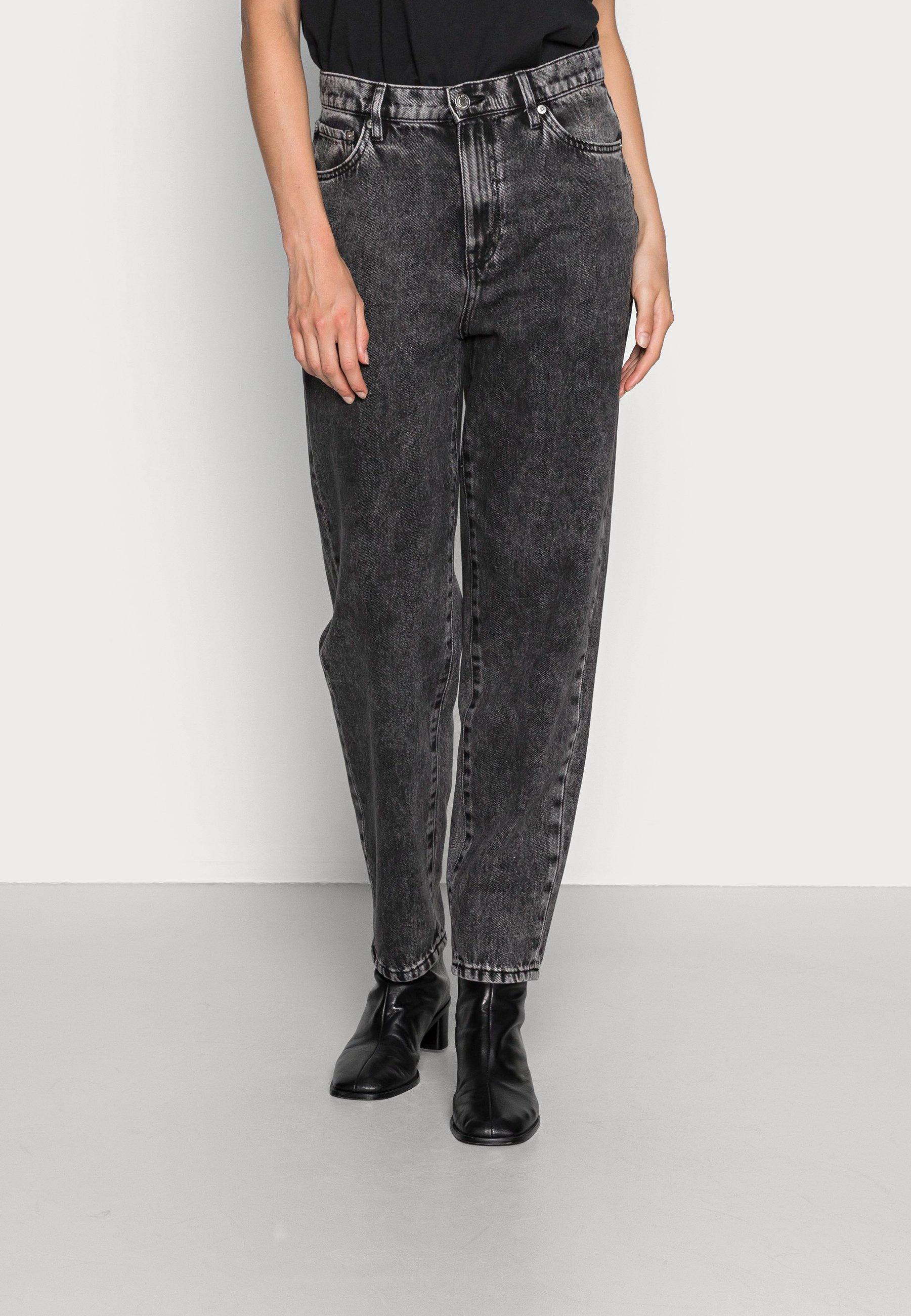 Women TROUSERS PAM BLACK ACID - Straight leg jeans