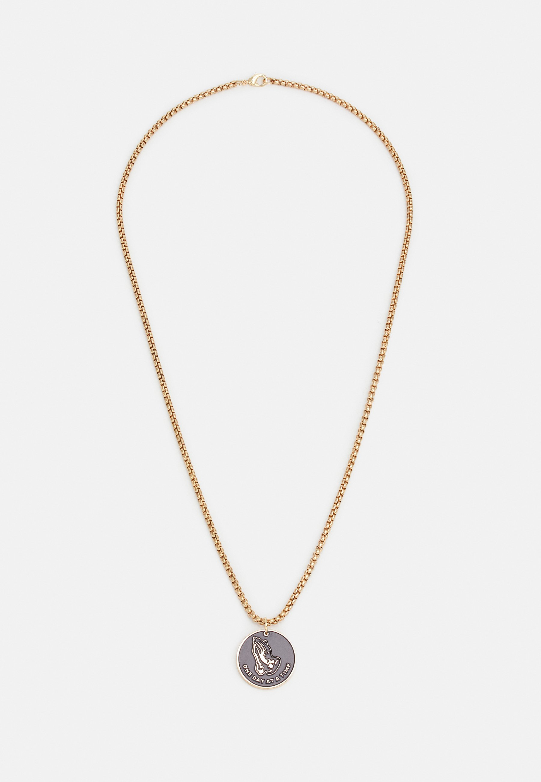 Homme PRAY HANDS COIN NECKLACE - Collier