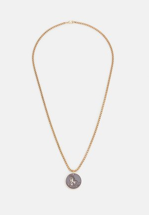 PRAY HANDS COIN NECKLACE - Necklace - gold-coloured