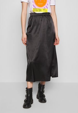 NMJULLE LONG SKIRT - Áčková sukně - black