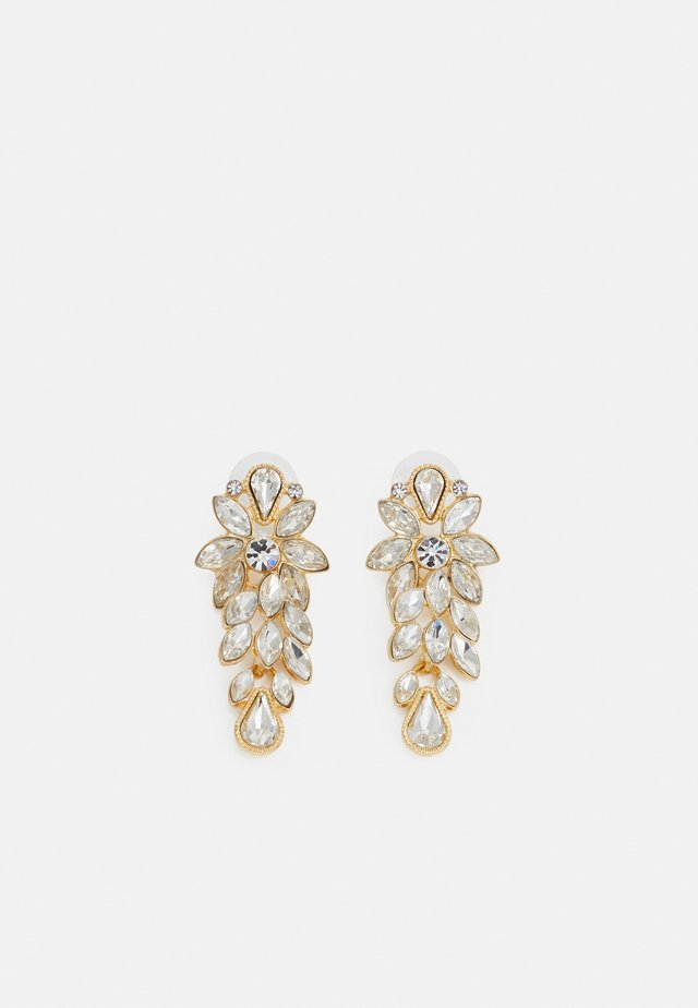TEMPLE LONG EAR - Earrings - gold-coloured/clear
