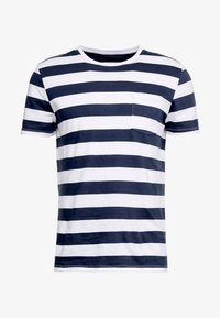 Pier One - Print T-shirt - dark blue/white - 3