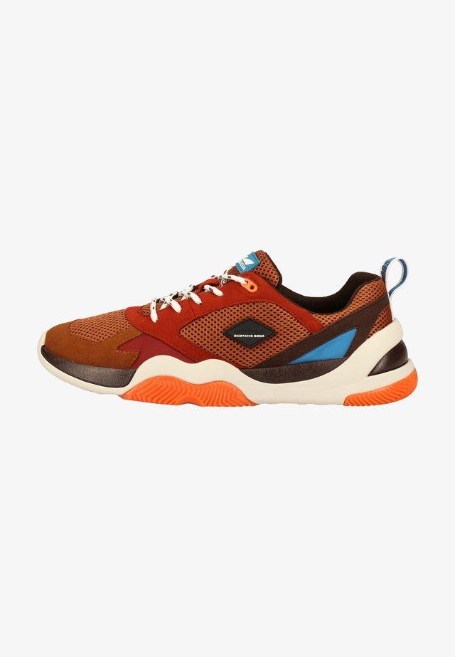 Sneakers laag - tan multi