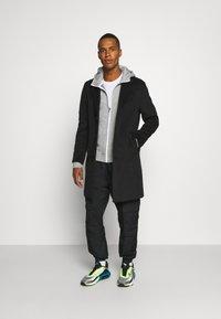 Nike Sportswear - HOODIE - Zip-up hoodie - dark grey heather - 1