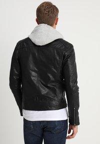 Serge Pariente - SEAN - Leather jacket - black/light grey hood - 2