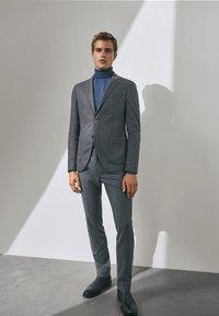 Massimo Dutti - SLIM-FIT - Trousers - grey - 1