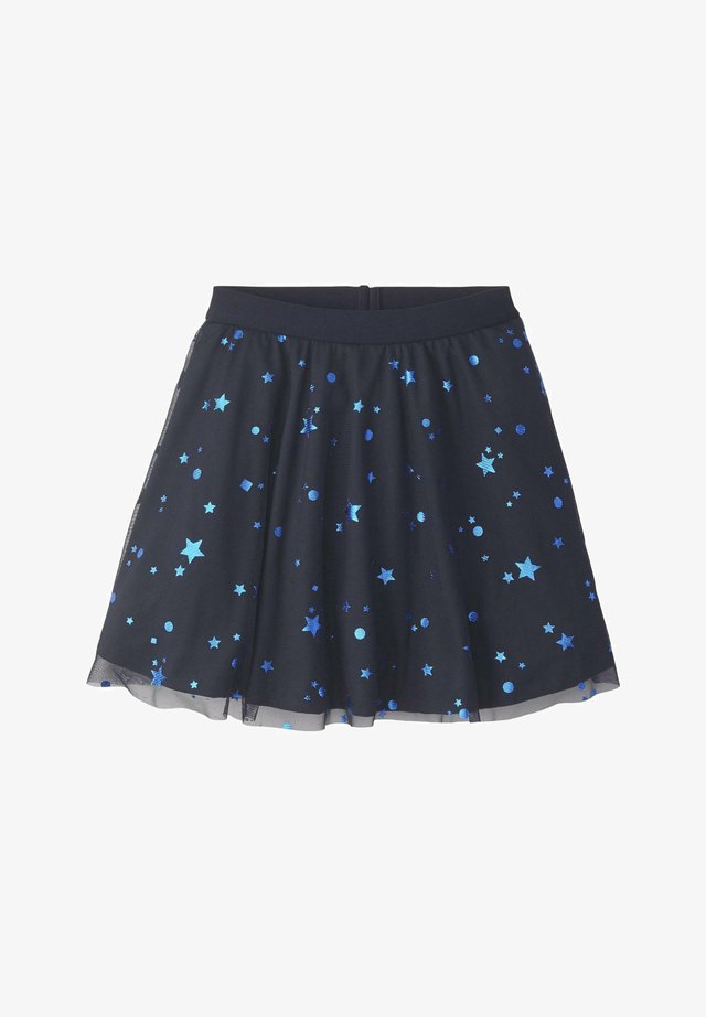 RÖCKE TÜLLROCK MIT STERN-MUSTER - A-line skirt - night sky|blue