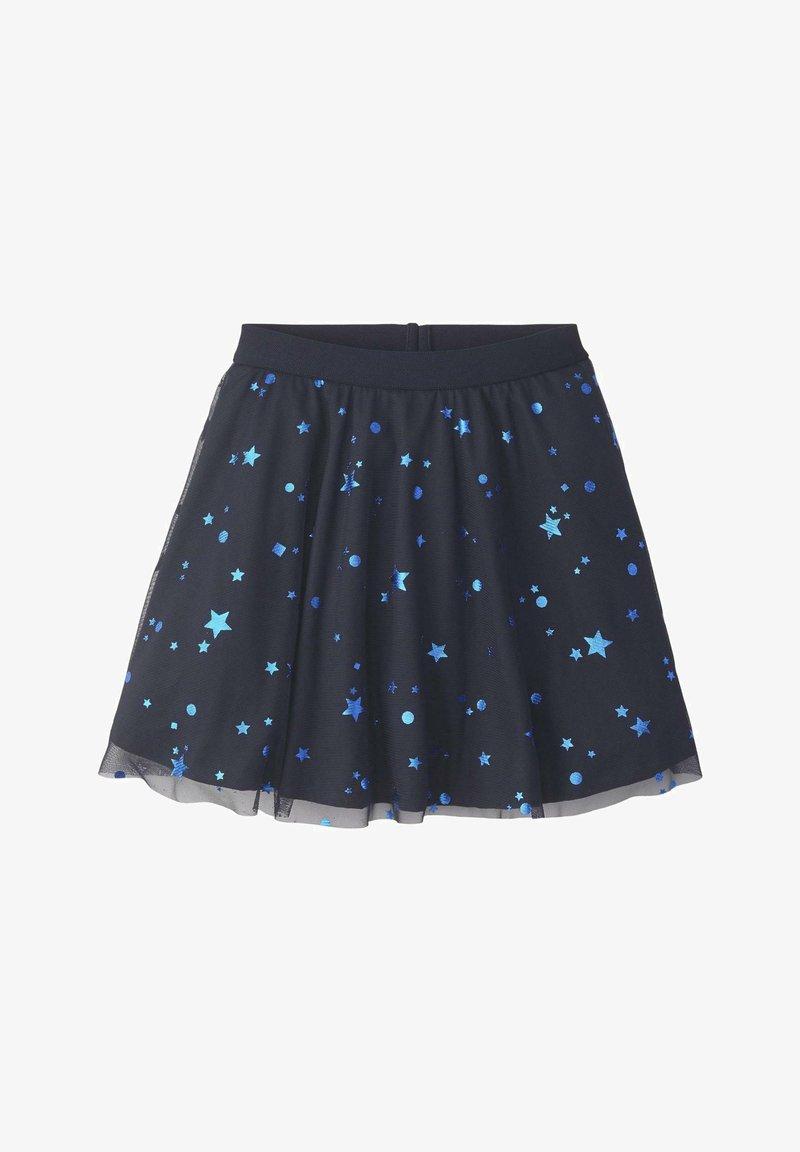 TOM TAILOR - RÖCKE TÜLLROCK MIT STERN-MUSTER - A-line skirt - night sky|blue