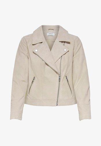 ONLRILEY  - Leather jacket - peyote