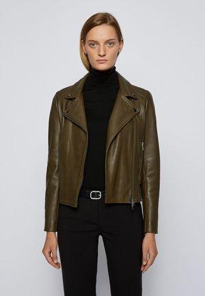 SAJUANA - Leather jacket - open green