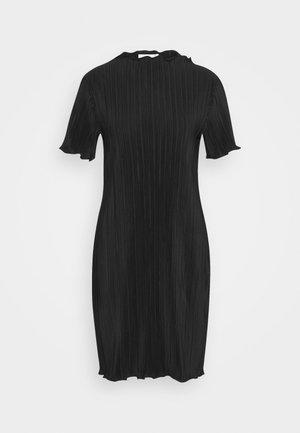 ELAINE PLEAT SHORT DRESS - Hverdagskjoler - black
