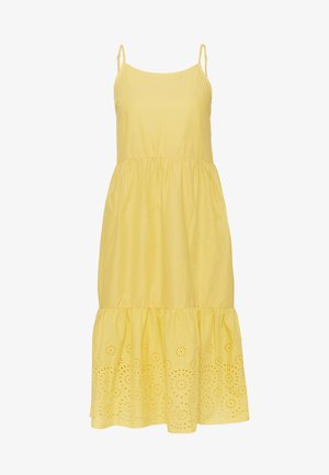 VMHALO SINGLET CALF DRESS - Kjole - banana cream