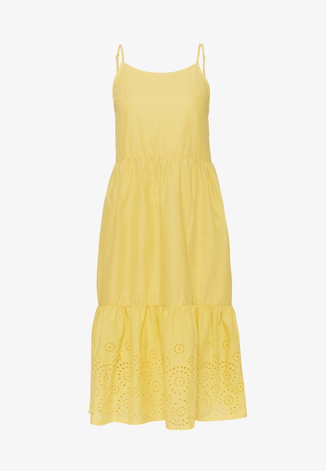 VMHALO SINGLET CALF DRESS - Vestito estivo - banana cream