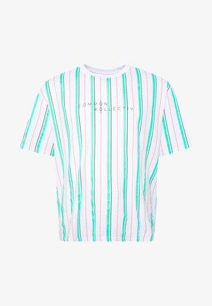PLUS STRIPED - Print T-shirt - white