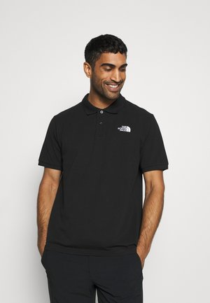 POLO - Poloshirt - black/white