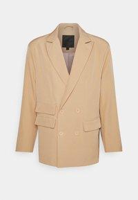 DOUBLE BREASTED CREPE SUIT JACKET - Blazer jacket - sand