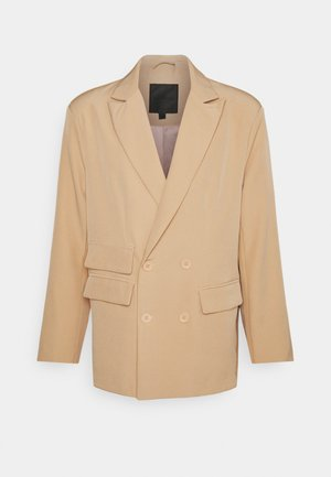 DOUBLE BREASTED CREPE SUIT JACKET - Blazer jacket - sand
