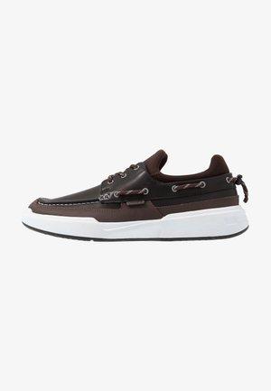 GENNAKER - Volnočasové šněrovací boty - black/dark brown