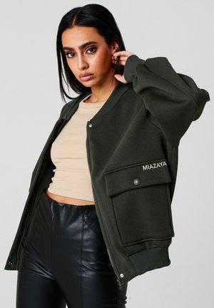 COLLEGE RICARDA - Zip-up sweatshirt - olive