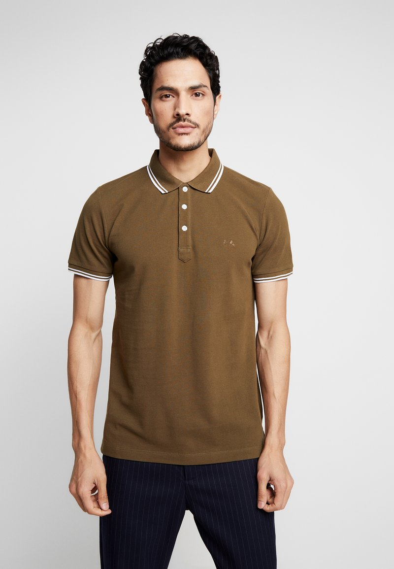 Lindbergh - CONTRAST PIPING - Polo shirt - army