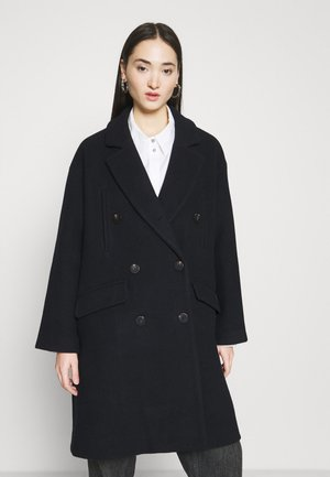 DOUBLE BREASTED PEACOAT - Classic coat - night