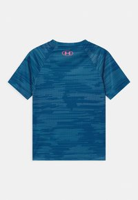 Under Armour - TECH BIG LOGO PRINTED  - Print T-shirt - graphite blue