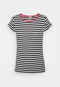 edc by Esprit - CAP SLEEVE - Print T-shirt - navy - 0