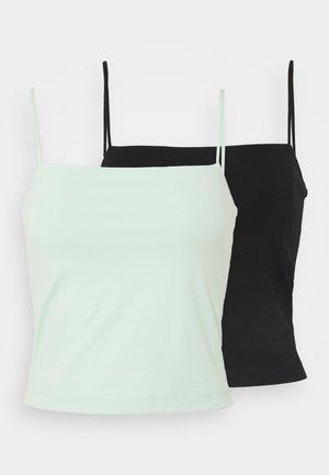 SCARLETT SINGLET 2 PACK - Toppe - black/gossamer green