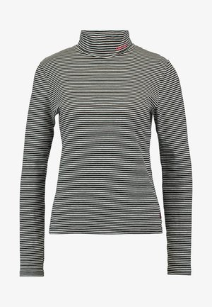 TURTLENECK - Long sleeved top - black/white