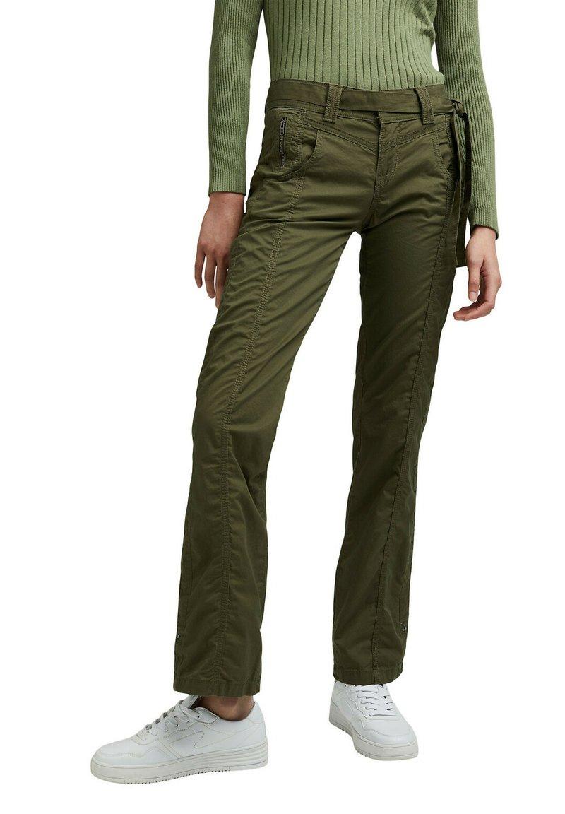 Esprit - PLAY - Trousers - khaki green