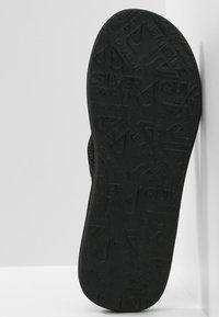 Quiksilver - CARVER PRINT - Pool shoes - black/black/blue - 2