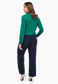 Triangle - REGULAR FIT: STRAIGHT LEG-HOSE - Trousers - navy - 2