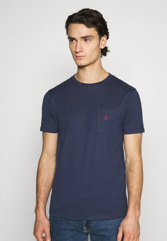 ONE POINT TEE - T-shirts - navy