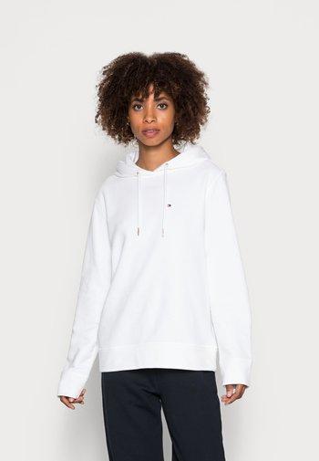 REGULAR HOODIE - Felpa - white