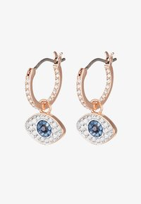 Swarovski - DUO HOOP EVIL EYE - Øreringe - dark multi - 4