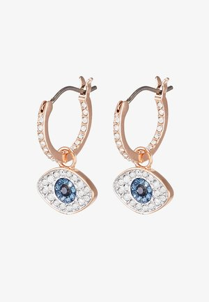 DUO HOOP EVIL EYE - Earrings - dark multi