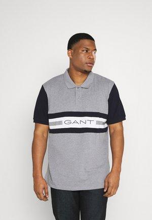 STRIPES RUGGER - Polo shirt - grey melange