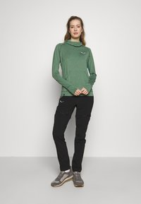 Salewa - PUEZ MELANGE DRY HDY - T-shirt sportiva - feldspar green melange - 1