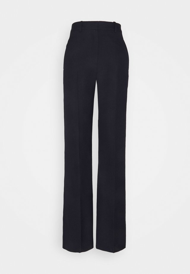 HIGH WAIST STRAIGHT LEG TROUSER - Broek - dark navy