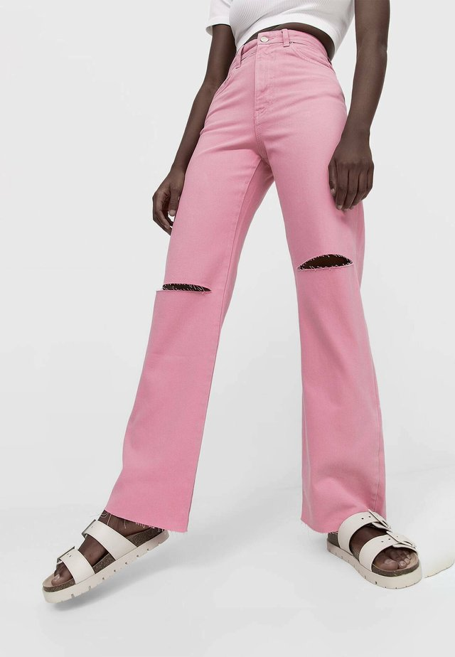 Jeans a sigaretta - pink