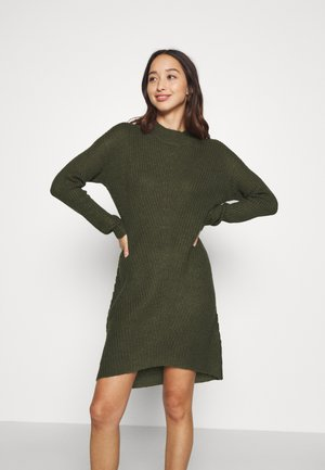 JDYMIGGY MEGAN HIGH NECK DRESS - Jumper dress - forest night/black ply