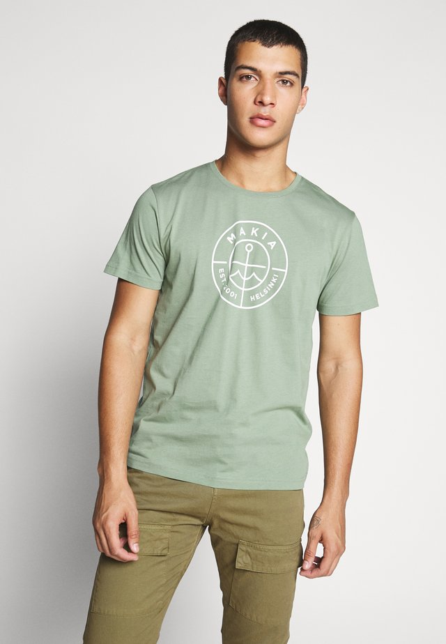 SCOPE  - T-shirt z nadrukiem - olive