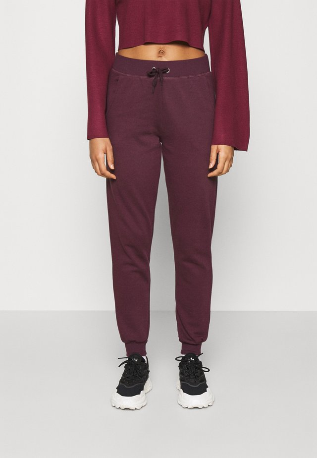 SLIM LEG JOGGER - Tracksuit bottoms - dark burgundy