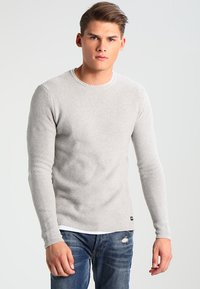 Only & Sons - ONSDAN STRUCTURE CREW NECK  - Strikpullover /Striktrøjer - light grey melange - 0