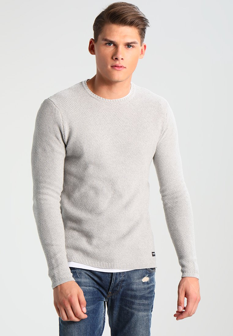 Only & Sons - ONSDAN STRUCTURE CREW NECK  - Strikpullover /Striktrøjer - light grey melange