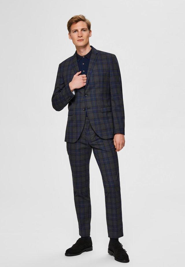 SLIM FIT - Pantaloni eleganti - dark grey